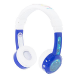 onanoff BuddyPhones InFlight Head-band Binaural Wired Blue, White mobile headset
