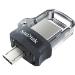 Sandisk Ultra Dual m3.0 unidad flash USB 16 GB USB Type-A / Micro-USB 3.2 Gen 1 (3.1 Gen 1) Negro, Plata, Transparente
