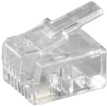 Microconnect KON501-10R wire connector RJ-11 6P4C Transparent
