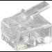 Microconnect KON501-10R wire connector RJ-11 6P4C Transparent