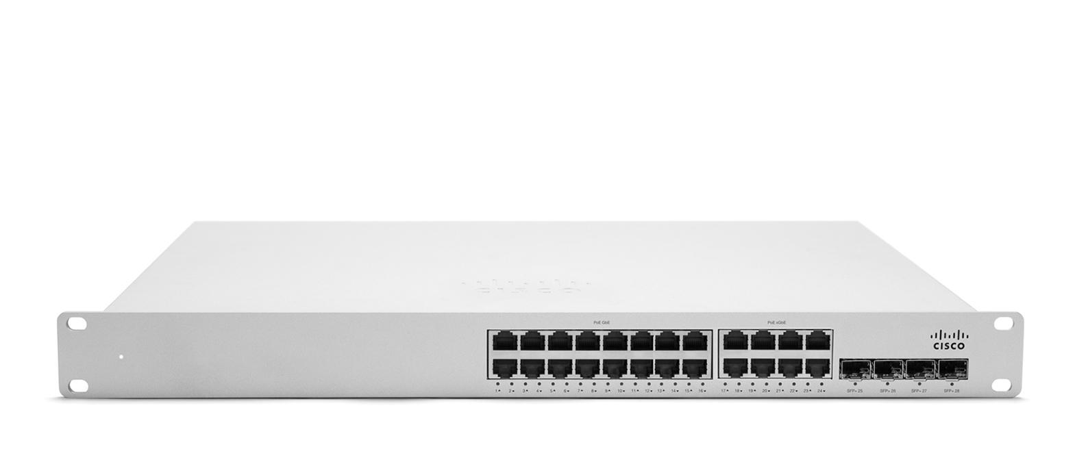 Cisco Meraki MS350-24X Gestionado L3 Gigabit Ethernet (10/100/1000) Blanco 1U Energía sobre Ethernet (PoE)