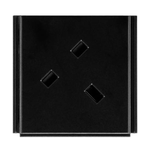 AMX HPX-P250-PC-UK Type D (UK) Black outlet box