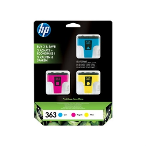 HP CB333EE (363) Ink cartridge multi pack, 1.27K pages, 14ml, Pack qty 3
