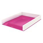 Leitz WOW Polystyrene Metallic,Pink desk tray