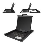 "StarTech.com RKCONS1901 rack console 48.3 cm (19"") 1280 x 1024 pixels Steel Black 1U"