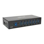 Tripp Lite U360-007-IND interface hub USB 3.0 (3.1 Gen 1) Type-B 5000 Mbit/s Black