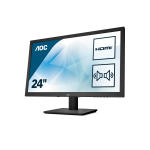 "AOC Essential-line E2475SWQE LED display 59.9 cm (23.6"") 1920 x 1080 pixels Full HD Flat Matt Black"