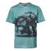 Pokémon Men's Venusaur Oil Washed T-Shirt, Small, Turquoise (TS576024POK-S)