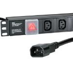 Cablenet 12 Way IEC - C13 Vertical 1u PDU with IEC - C14 3m Feed
