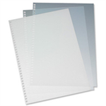 GBC HiClear Binding Covers A4 PVC 250 Micron Super Clear (50)