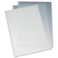 GBC HiClear Binding Covers A4 PVC 250 Micron Super Clear (50)