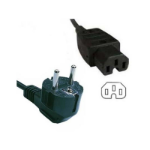 """FDL 2M EUROPEAN MAINS TO IEC C15 HOT"""" CONNECTOR CABLE"""""""