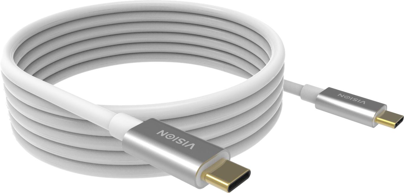 Vision TC 4MUSBC cable USB 4 m 3.2 Gen 2 (3.1 Gen 2) USB C Blanco