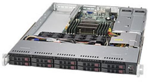 Supermicro 1018R-WC0R Intel® C612 LGA 2011 (Socket R) Rack (1U) Black, Silver