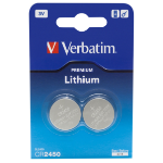 Verbatim CR2450 3V Lithuim Battery (2 pack)