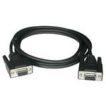 C2G 0.5m DB9 F/F Modem Cable cable de red 0,5 m Negro