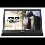 "ASUS MB169C+ computer monitor 39,6 cm (15.6"") Full HD LED Flat Zwart, Zilver"