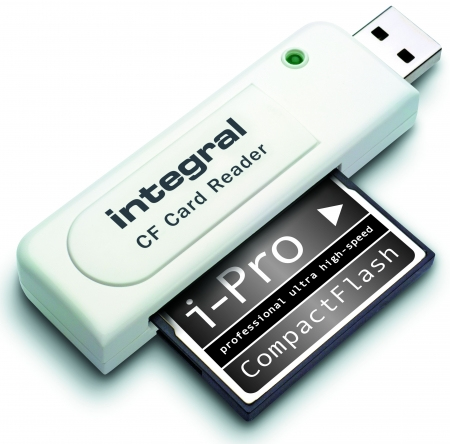 Integral INCRCF card reader White USB 2.0