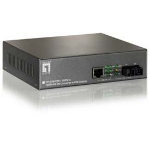 LevelOne 10/100BASE-TX to 100BASE-FX SMF SC PoE Converter, 20km
