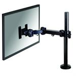 """Newstar Full Motion Desk Mount (grommet) for 10-30"""" Monitor Screen, Height Adjustable - Black"""