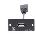 Kramer Electronics Wall Plate Insert - USB (A/A) outlet box Black