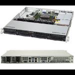Supermicro SuperServer 5019P-MR Intel® C621 LGA 3647 1U Black