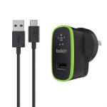 Belkin F7U001au06-BLK mobile device charger Indoor Black, Green