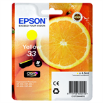 Epson C13T33444010 (33) Ink cartridge yellow, 300 pages, 5ml