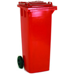 VFM REFUSE CONTAINER 120L 2 WHLD RED 33 33