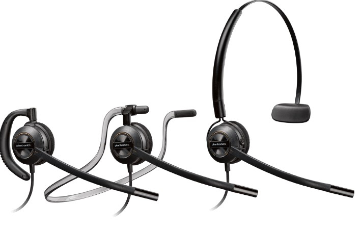 Plantronics HW540D headset Monaural Ear-hook, Head-band, Neck-band Black