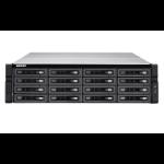 QNAP TS-EC1680U-E3-4GE-R2 NAS Rack (3U) Ethernet LAN Black, Grey