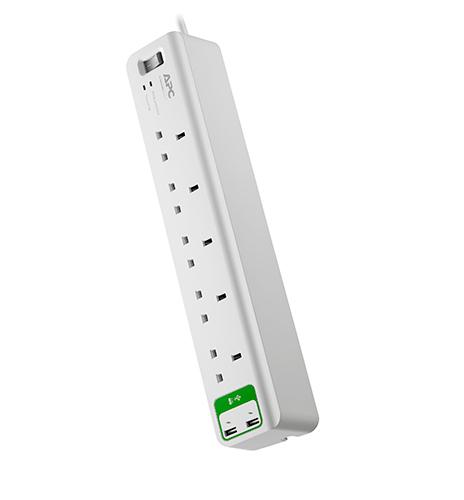 APC SurgeArrest surge protector 5 AC outlet(s) 230 V 1.83 m White