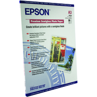 Epson Premium Semigloss Photo Paper, DIN A3, 251g/m², 20 Sheets