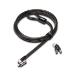 Kensington MicroSaver 2.0 cable antirrobo Negro, Acero inoxidable