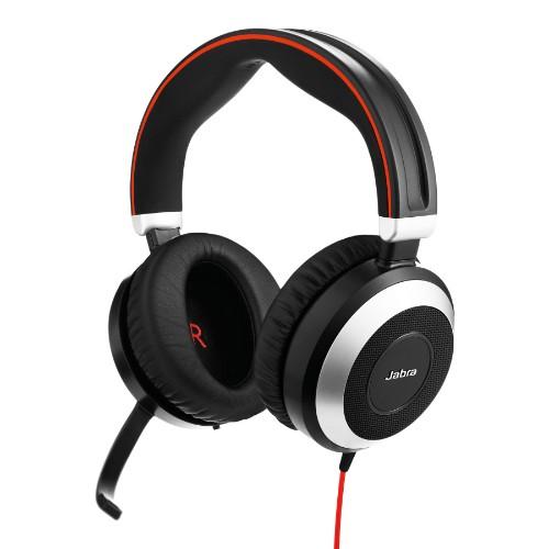 Jabra Evolve 80 Stereo MS USB-C Headset Head-band Black