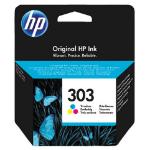 HP 303 Tri-color Original inktcartridge Cyaan, Magenta, Geel