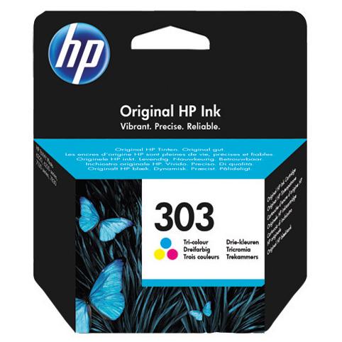 HP 303 Tri-color Original Cian, Magenta, Amarillo