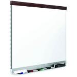 QUARTET PORCELAIN WHITEBOARD PRESTIGE MAHOGANY FRAME 895 X 635MM