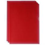 White Box WB CUT FLUSH FOLDER RED LF80RBG100 P100