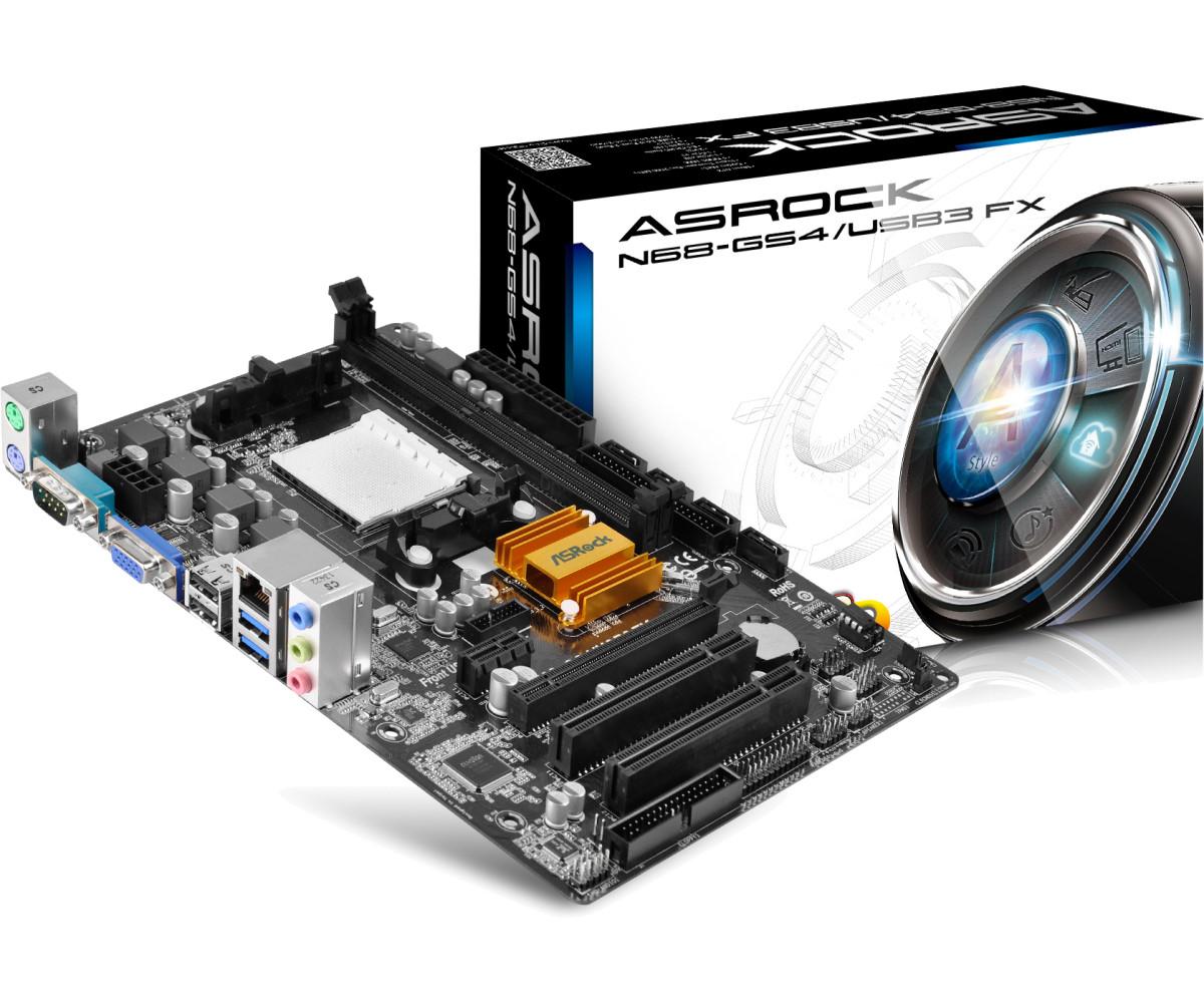 Asrock N68-GS4/USB3 FX motherboard