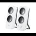 New Logitech Z200 Multimedia Speakers Stereo Sound Snow White 3.5mm AC