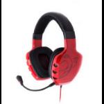 Ozone Rage ST Binaural Head-band Red headset