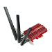 ASUS (PCE-AC66) 1750Mbps (1450+300), Wireless Dual Band PCI Express Adapter, 3 Antennas, External Base