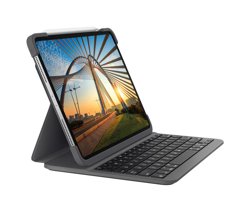 Logitech Slim Folio Pro teclado para móvil QWERTZ Suizo Grafito Bluetooth