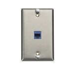 Black Box WP369C6 socket-outlet RJ-45 Stainless steel