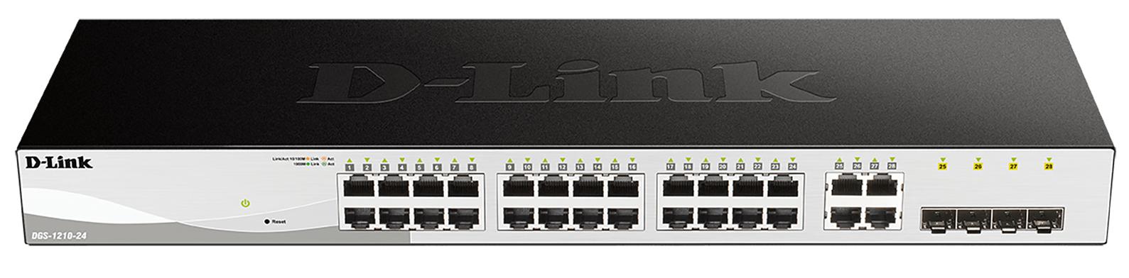 D-Link DGS-1210-24 switch Gestionado L2 Gigabit Ethernet (10/100/1000) Negro 1U