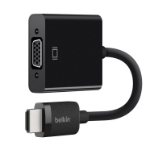 Belkin AV10170BT video cable adapter 2.5 m VGA (D-Sub) HDMI Type A (Standard) Black
