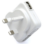 Veho VAA-003 Universal USB UK Mains Plug Converter White