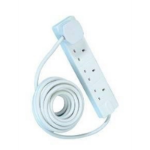 Target 4 Gang White 5m Cable power extension ELEC4WAY5M