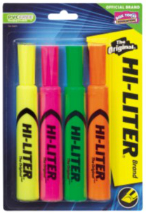 Avery 24063 Green,Orange,Pink,Yellow 4pcs marker, 8970 in